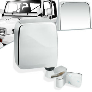 Fit 87 95 Jeep Wrangler Oe Style Manual Side View Door Mirror Right rh Ch1321189