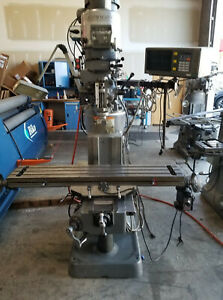 Bridgeport Milling Machine Series 1 9x49 Bed Size 2 Axis Dro X Axis Sn270594