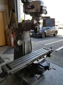 Bridgeport Milling Machine Series 1 9x49 Bed Size 2 Axis Dro X Axis Sn272645