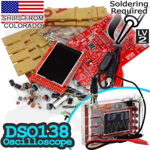 Dso138 2 4 Tft Digital Oscilloscope Kit With Sturdy Case For Diy Arduino Pi Ttl