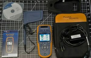 Fluke Networks Aircheck Wifi Tester Netscout W Directional Antenna Case Le