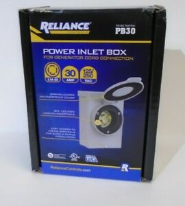 Reliance Pb30 30 amp Power Generator Inlet Box Plug Transfer Switche Panel