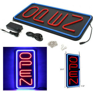 12x24 Vertical Neon Open Sign Light Night Wall Lamp Restraunt Bright Bar Club