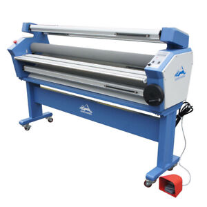 63 Wide Format Cold Laminator Roll To Roll Mounting Laminating Machine