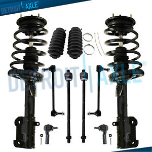 2005 2007 2008 2009 2010 Ford Mustang 10pc Front Struts W spring Sway Bar Tierod