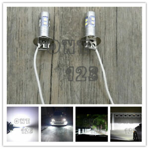 H3 Cree Led Fog Light Bulbs Conversion Kit Super Bright Canbus 6000k White 55w