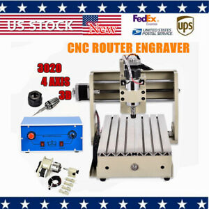 4 Axis Cnc 3020 Router Engraver Wood Metal Cutting 3d Drilling Milling Machine