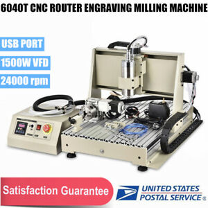 4axis 6040t Cnc Router Metal Engraver Engraving Milling Drilling Machine 1500w