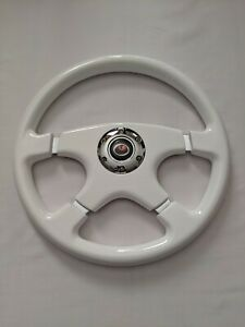 Raptor 15 Designo 4 Spoke White Wood Grain Steering Wheel
