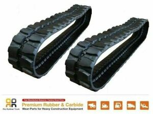2 Pc Rio Rubber Track 400x72 5x72 Takeuchi Tb 55ur Mini Excavator