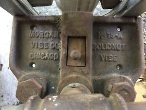 Nice Vintage Morgan Woodworking Bench Vise No 15 a 8 Solidnut