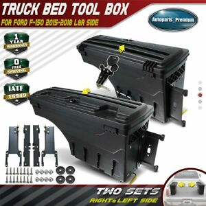 2x Lockable Storage Truck Bed Toolbox Rear Left Right For Ford F 150 2015 2019