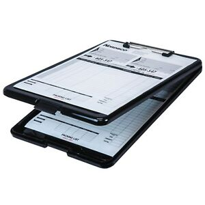 Business Source 37513 Clipboard With Storage Black Plastic 13 3 8 X 9 1 2