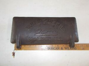 Vintage John Deere Cast Iron Embossed Tool Box Cover z412 h