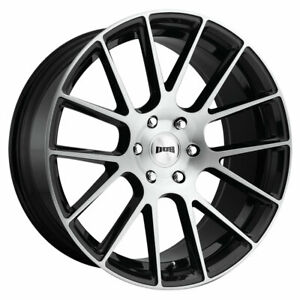 Dub Luxe S206 Rim 20x9 6x5 5 Offset 30 Gloss Black Brushed Quantity Of 4