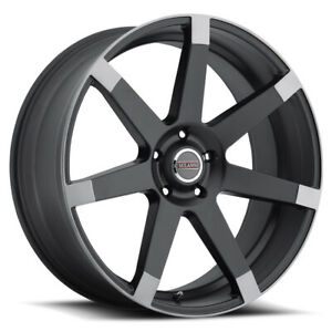 Milanni 9042 Sultan Rim 22x9 5 5x120 Offset 15 Blk Anthracite Ends Qty Of 4
