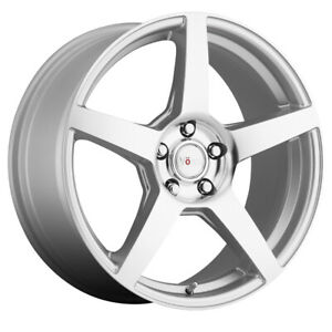 Voxx Mga Rim 18x8 5x115 Offset 20 Silver Mirror Machined Face Quantity Of 4