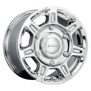 Ultra 450 Super Single Rim 16x8 6x205 Offset 55 Chrome quantity Of 4