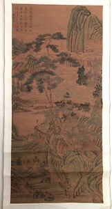 Antique Chinese Scroll Painting Qing Dynasty