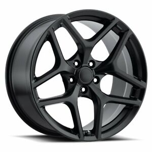 Factory Reproductions Fr 27 Z28 Camaro Rim 20x9 5x120 Offset 27 Blk Qty Of 4