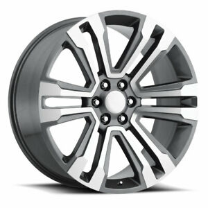 Factory Reproductions Fr 72 Escalade 22x9 6x139 7 Et24 Grey Mach Face qty Of 4