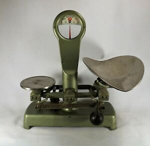 Vintage Detecto Gram Scale 3 Lbs Complete W Tray Sliding Weight Model 74 T