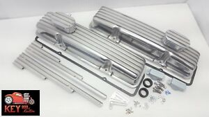 Small Block Chevy Short Finned Aluminum Valve Covers Gaskets Breathers Looms