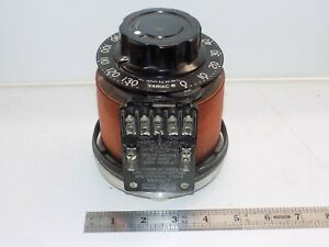 Variac Adjustable Power Transformer 0 130vac 5a Made In U s a Hot Wire