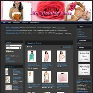 Wedding Store Complete Ready Made Affiliate Website Amazon google dropship
