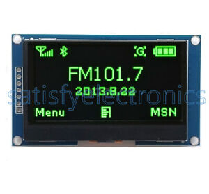 Green 2 42 Inch Oled Display Ssd1309 128x64 Spi Serial Port Module For Arduino