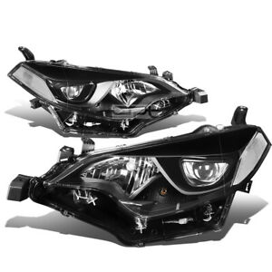 Fit 2014 2016 Toyota Corolla Black Housing Clear Side Projector Headlight lamp