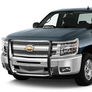 1 5 Stainless Steel Front Bumper Brush Guard Frame For 2007 2013 Chevy Silverado