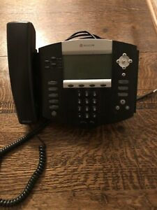 Two 2 Polycom Soundpoint Ip550sip Business Phones With Handsets Pre owned