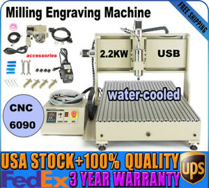 Usb 6090 Cnc Router 4 Axis Engraver Drilling Milling Machine 3d Metalwork 2 2kw