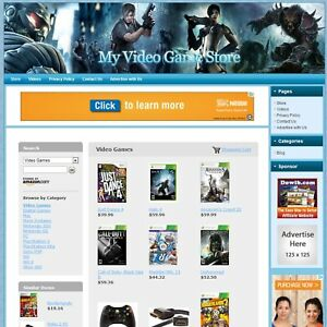 Video Game Store Easy to operate Highly Profitable Internet Business Website