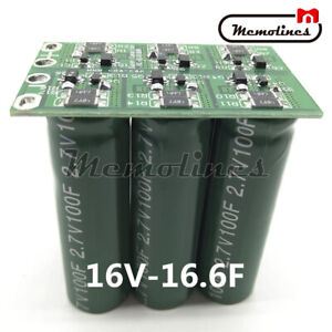 1 2x Double Row 16v 16 6f Farad Capacitor Electrical Component Super Capacitor