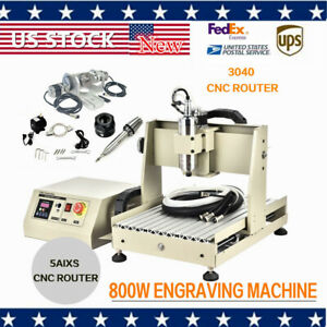 Usb 5axis Cnc 3040 Router Mill Drill Engraving Machine 800w Vfd Water cooled Us