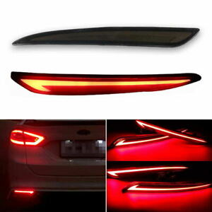 Fluid Style Led Bumper Sequential Rear Foglight Tail Light For 13 16 Ford Fusion