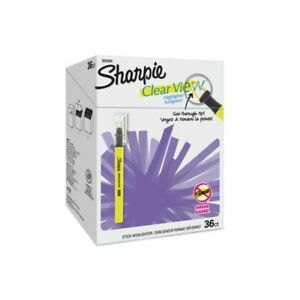 Sharpie Clear View Highlighter Sticks Chisel Tip Assorted Fluorescent Colors