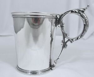 Antique Gorham Coin Silver Floral Vine Design Cup