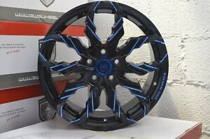 4 G47 Scorpio 18 Inch Black Blue Mill Rims Fits Honda Civic Coupe 2012 2015