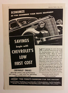 1938 Chevy Truck Ad Must See