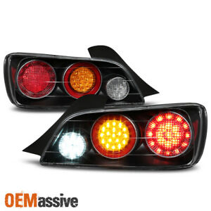 Fit 2004 2009 Honda S2000 S2k Ap2 Full Led Style Black Taillights Taillamps Pair