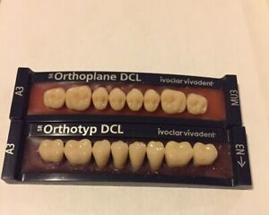 Ivoclar Vivadent Orthpolane Dcl 2 Cards Of A3 Teeth For Dental Lab Materials