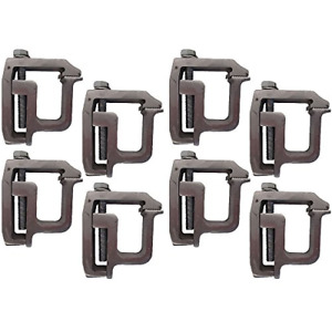 Set Of 8 Heavy Duty Truck Cap Topper Camper Shell Mounting Clamps Tl 2002
