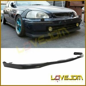 Fits 96 98 Honda Civic Sir Factory Oe Style Pu Front Bumper Lip Spoiler Bodykit