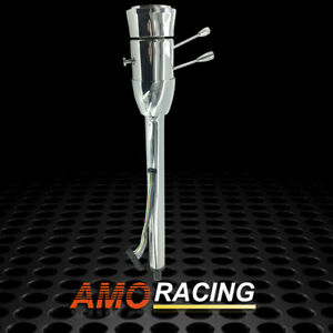 Universal 30 Chrome Manual Steering Column With 9 Hole Adapter No Key Hot Rod