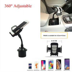 360 Car Mount Adjustable Gooseneck Cup Holder Cradle Cell Phone Gps Convenient