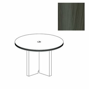 42 Round Conference Table Gray Steel