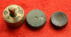 Set Of 3 Antique Balance Platform Or Barn Scale Weight